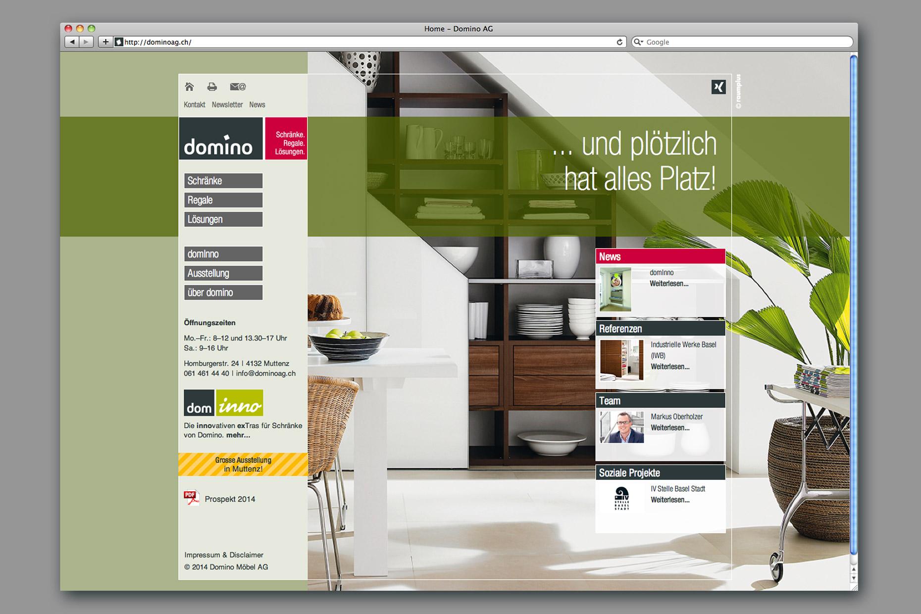 domino m bel ag brand care service ag. Black Bedroom Furniture Sets. Home Design Ideas